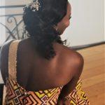 Tissage chignon bouclé mariage Audrey latelierby colette 2019